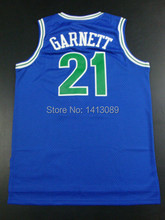 Free Shipping Timberwolves Throwback Basketball Jersey Kevin Garnett #21 Jersey Wholesale Embroidery Logo Basketball Mens Jersey(China (Mainland))