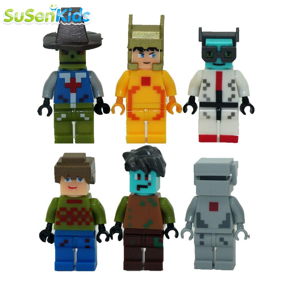 6pcs/lot Game Minecraft Kid Baby Toy Mini Figure Building Blocks Sets Model Toys Minifigures Brick #SSJR12380(China (Mainland))