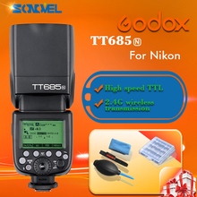 Buy New Arrived Godox TT685/N TT685N Speedlite High-Speed Sync External TTL Nikon Flash D80 D90 D7100 D5100 D5200 D3100 D3200 for $119.00 in AliExpress store