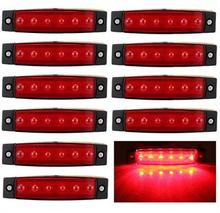 10X 6 LED Side Marker Light Clearance Lamp 24V Car Truck Trailer BUS Rear lamp external Lights Van volvo scania lorry caravan(China (Mainland))