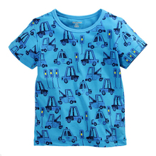 New Hot Branded Boys O-neck T-shirt Clothing 100% Cotton Summer Toddler Kids Cloth Blue Short Sleeve Tops Tee T-Shirt t shirt