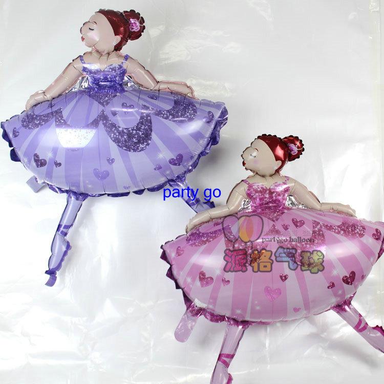 Large 113 X 84cm thick Ballet girl dancing Princess Balloons party Decoration Christmas Birthday gift cartoon Princess Balloon<br><br>Aliexpress