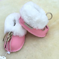 2016 winter Short tube soft bottom baby shoes Breathable fur and fur prewalker Autumn and winter