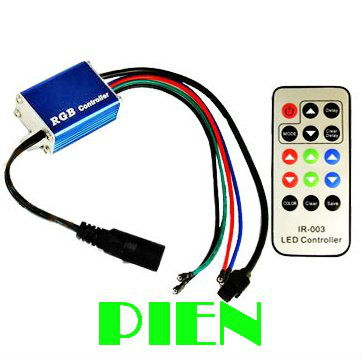 LED Amplifier Repeater 12A RGB Controller 12V Speed Brightness Adjustable+IRRemote Controller for RGB LED Strip by DHL 20pcs/lot(China (Mainland))