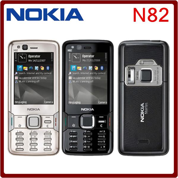 Original Nokia N82 Unlocked GSM Mobile Phone Dual Camera 5MP WIFI 3G GPS Russian keyboard Phone freeshipping one year warranty(China (Mainland))