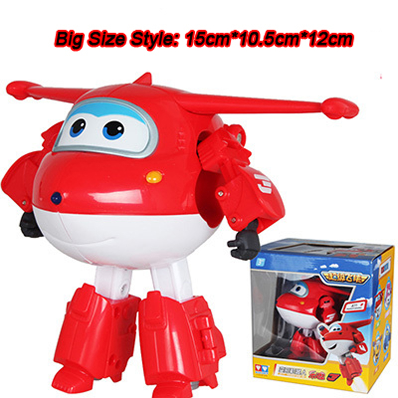 Big!!!15cm ABS Super Wings Deformation Airplane Robot Action Figures Super Wing Transformation toys for children gift Brinquedos(China (Mainland))