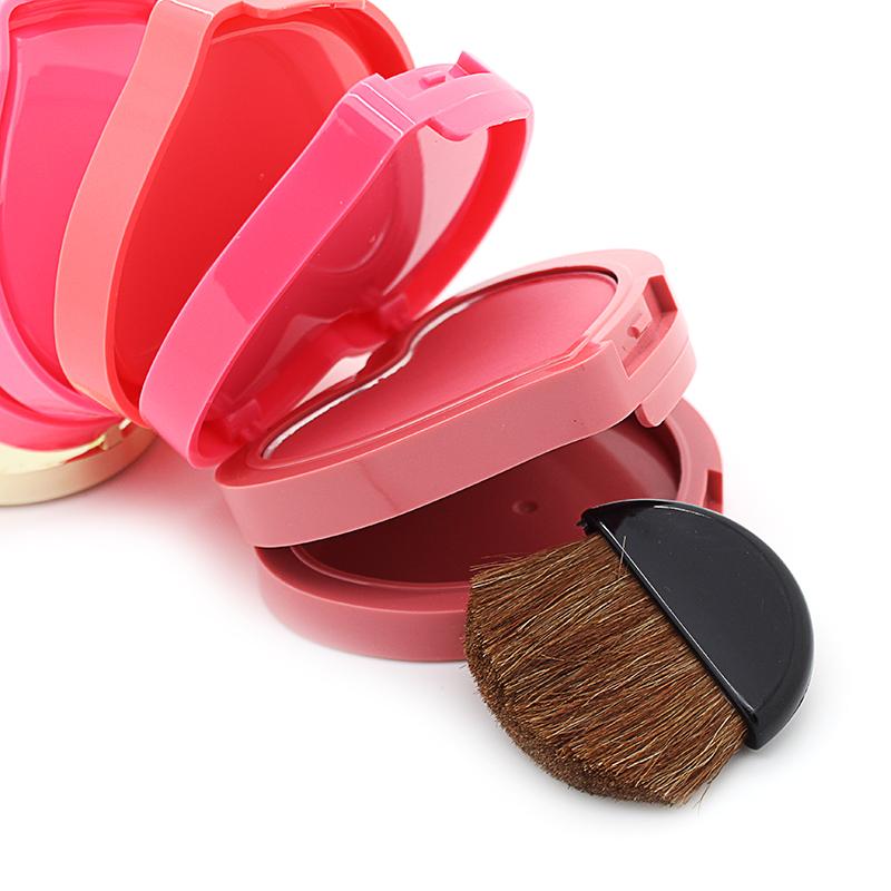 New 5 colors/SET brand Makeup Professional blusher Heart love design women Concealing Shading blush blusher Palette make up set(China (Mainland))