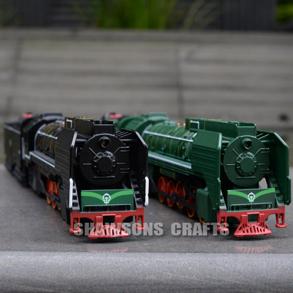 DIECAST MODEL TRAIN TOYS CHINA RAIL QJ 0001 GAS-TURBINE LOCOMOTIVE W/ A CARRIAGE(China (Mainland))