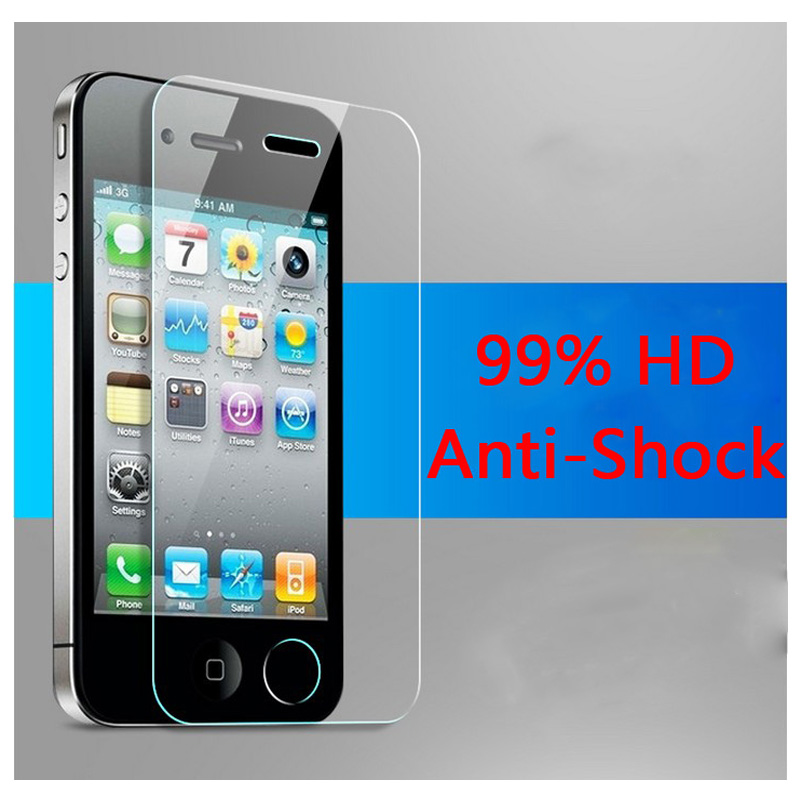 pelicula de vidro For screen guard iphone 4 4s tempered glass screen protector on iphone protective on phone for iphon 4 4s(China (Mainland))