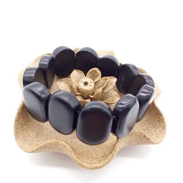 Черный бянь камень здоровья энергии Bracelet / лечения выпадения волос, Желудочно-кишечные ...