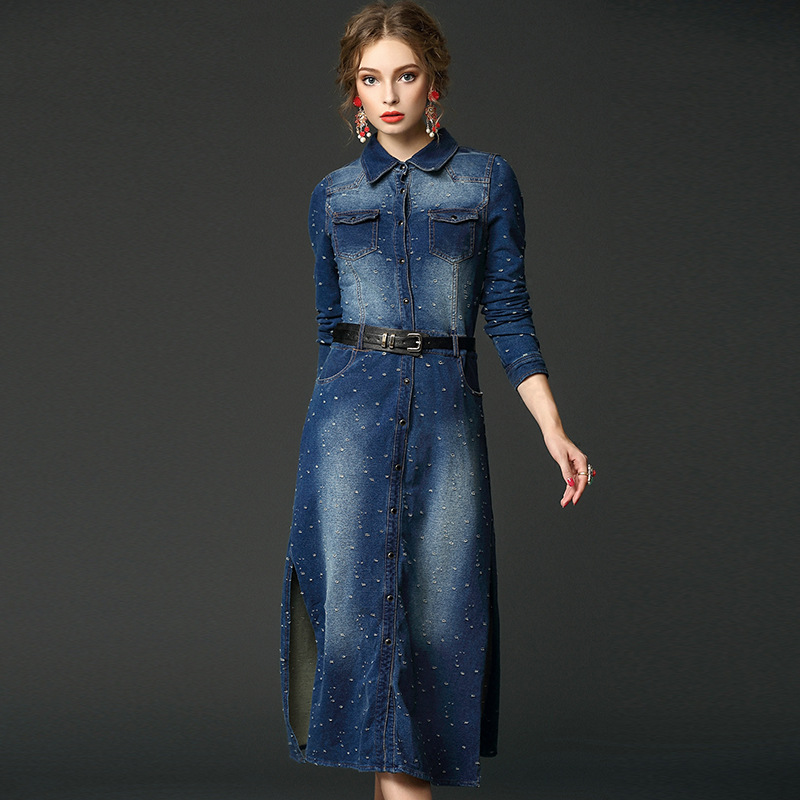 Long Jeans Dresses For Women