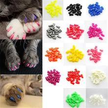 New 20Pcs/Lot Colorful Soft  products for cats Pet Dog Cats Kitten Paw Claws Control Nail Caps Cover Size(China (Mainland))