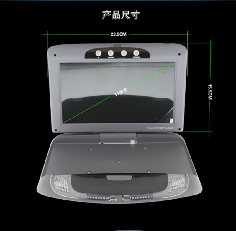 "9"" Super Slim Overhead drop car automotivo HD Flip Down Monitor LCD Car Ceiling wide screen Monitor IR Transmitter"