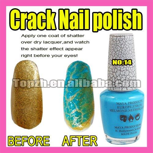 Wholesales Price Freeshipping 5pcs/LOT New Nail Art Crack Pattern Nail Polish Varnish F289