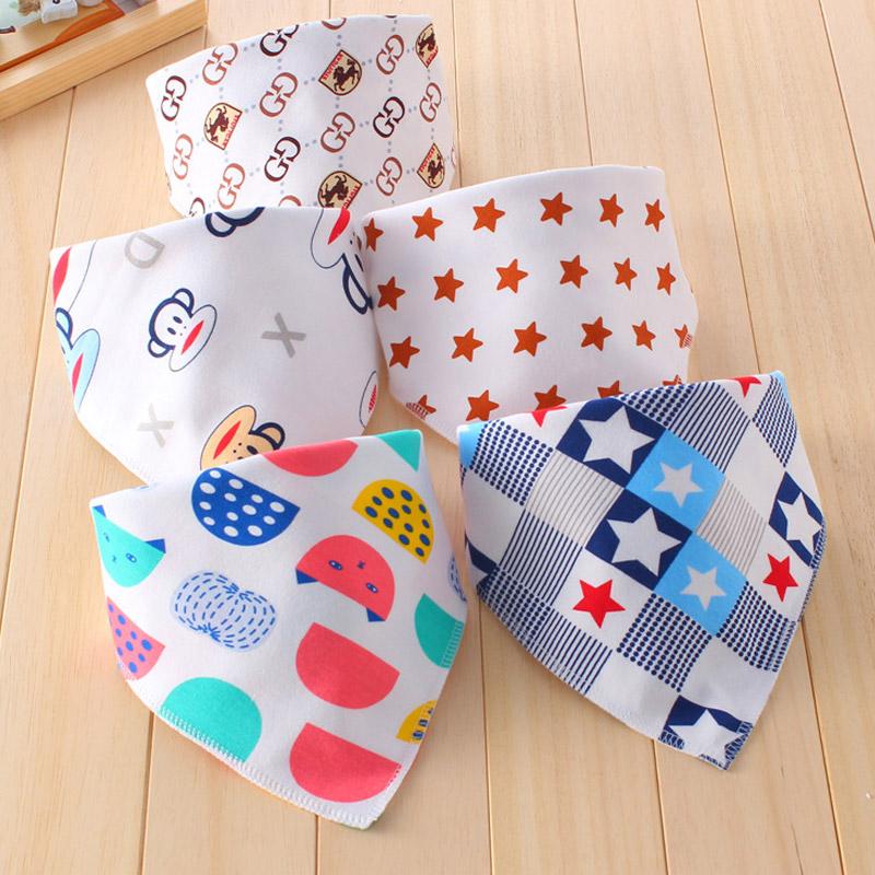 Big Size 1Pcs Double Layers Cotton Baby Bibs Baby Bandana Bibs Burp Cloths Newborn Triangle Scarf character Animal Towel Stuff(China (Mainland))