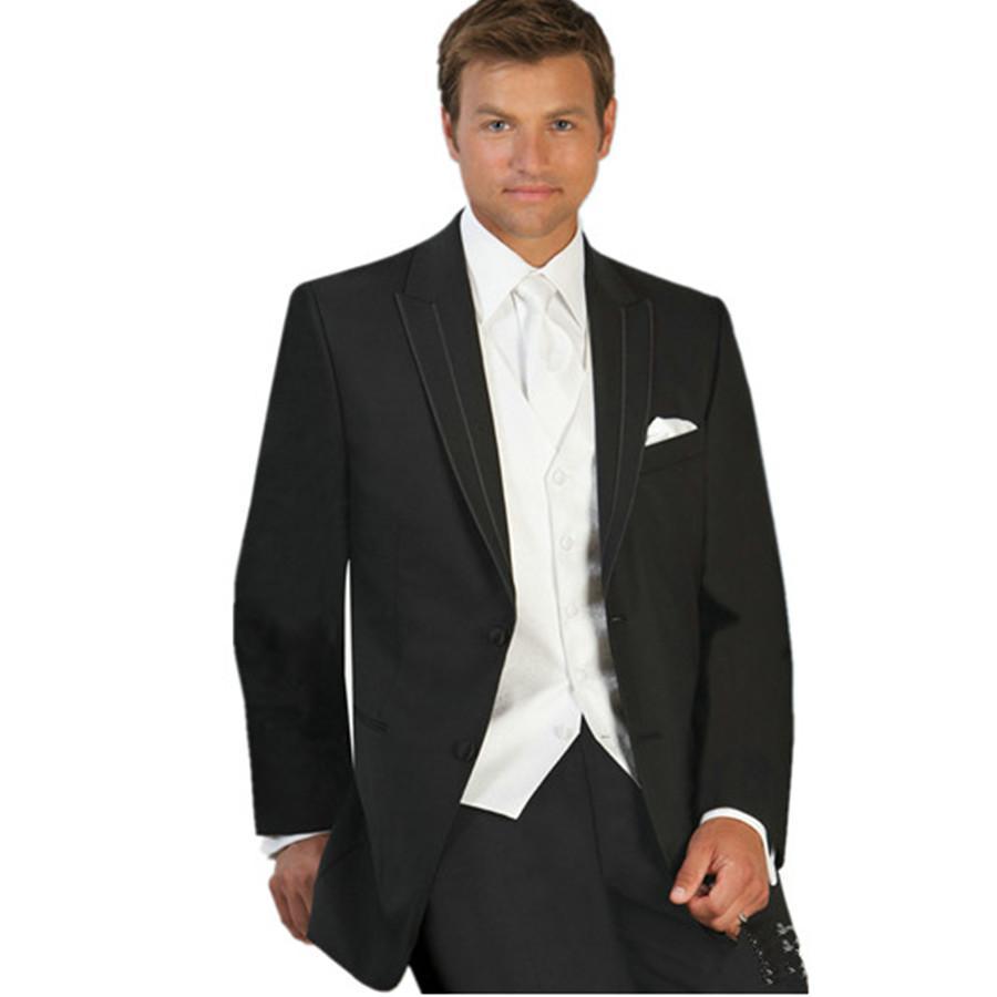 Tuxedos For Weddings: Trajes De Novio 2016 Hombre Black Wedding Suits For Groom