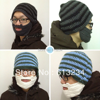 Free shipping Beard Hat Knit Beard Hat Set