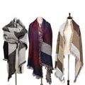 70CM 200CM Fashion Thickness Wool Large Scarf Winter Autumn Women Pashmina Warm Lady Shawl Brand Designer
