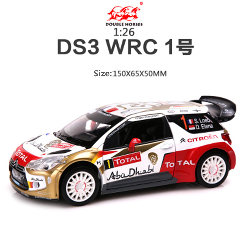 1:26 Alloy Citroen Racing,Model Metal cars,Musical Pull Back car,DS3 WRC France Racing,free shipping(China (Mainland))
