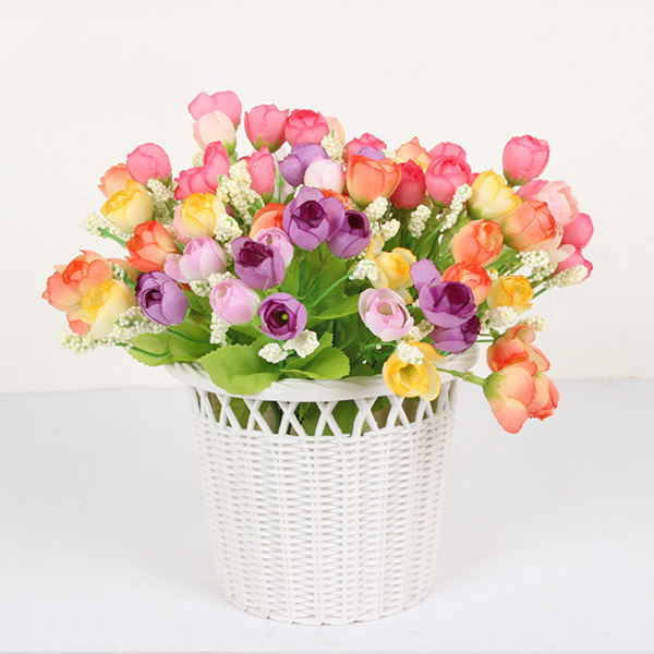 New <font><b>Elegant</b></font> Beautiful Artificial Roses Flowers Bouquet <font><b>Home</b></font> <font><b>Decor</b></font> 15 Heads Wedding Party <font><b>Home</b></font> <font><b>Decor</b></font>