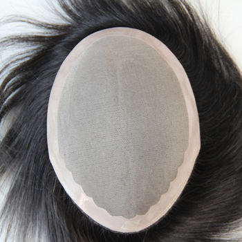3 modles for your choice ! 100% 6A hair men's toupee super thin skin knot slight wave stock toupee for men 15.5cm hair length