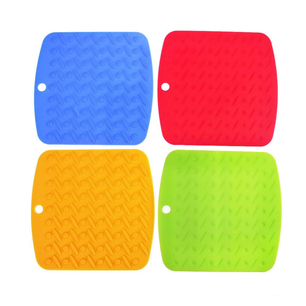 Free Ship 4pcs/lot Silicone Nonslip High Heat Resistant Pot Pan Bowl Pad Table Mat Tool Accessories(China (Mainland))