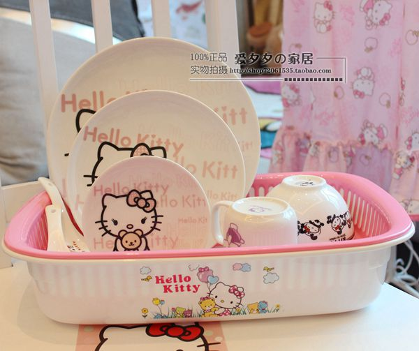 Hello Kitty Kitchen Accessories: Hello Kitty Hello Kitty Kitchen Dish Rack Shelving Drain