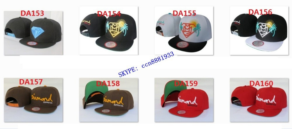 Cheap whloesale Diamond snapbackhats and caps,men and woman fashion fitted hats for sale,FREE SHIPPING 24pcs/lot(China (Mainland))