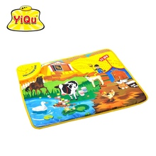 YIQU Funny Farm Animal Baby Play Music Mats Crawling Carpet 59*49*2cm Alfombras Infantiles Developing Mat Box - Blitoys store