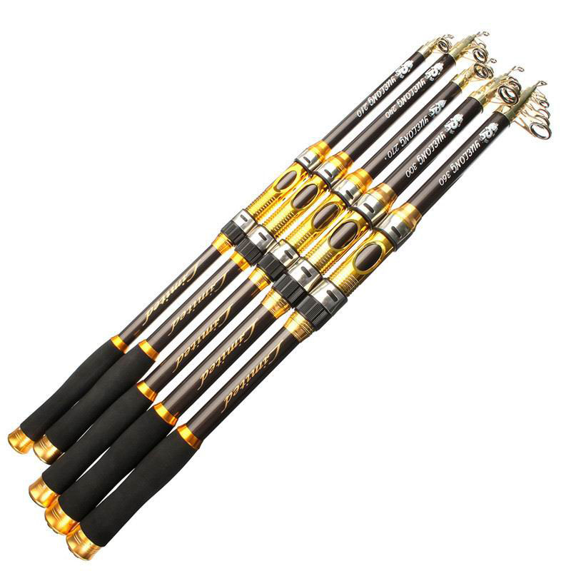 Carbon 2.1M 2.4M 2.7M 3.0M 3.6M Portable Telescopic Fishing Rod Spinning Hand Fishing Tackle Sea Rod Fishing tackle accessory(China (Mainland))