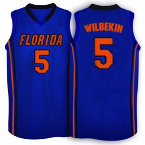 #5 Scottie Wilbekin Florida Gators Jersey Retro Throwback Men's Stitched Basketball college Jersey S to XXXL Blue White(China (Mainland))