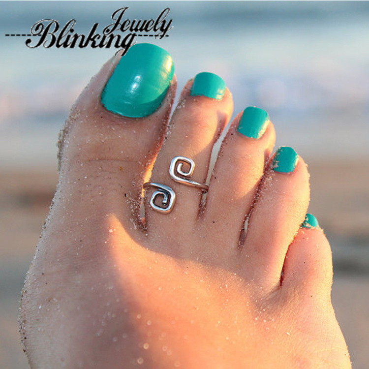 2015 Fashion Hot Sale Beach Foot Ring Toe Unique Retro Silver Plated Foot Rings For Women Summer Jewelry For Women Bijoux(China (Mainland))