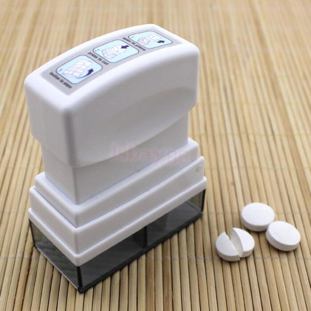 Medication Pill Cutter Tablet Medicine Divider Splitter Container Divider