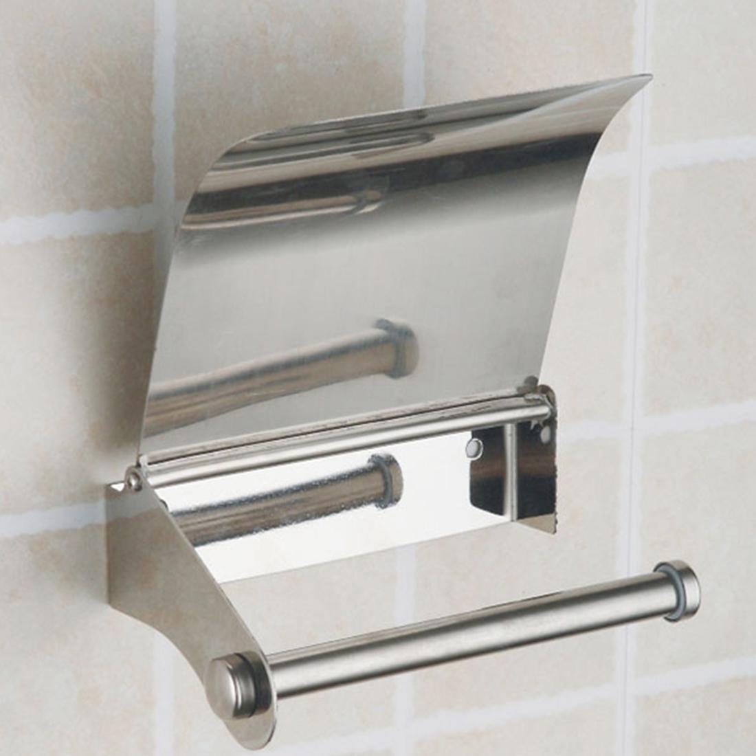 Bathroom Accessories Stainless Steel Toilet Paper Roll Holder Creative Bathroom Wall Mount Rack Toilet Paper Holder