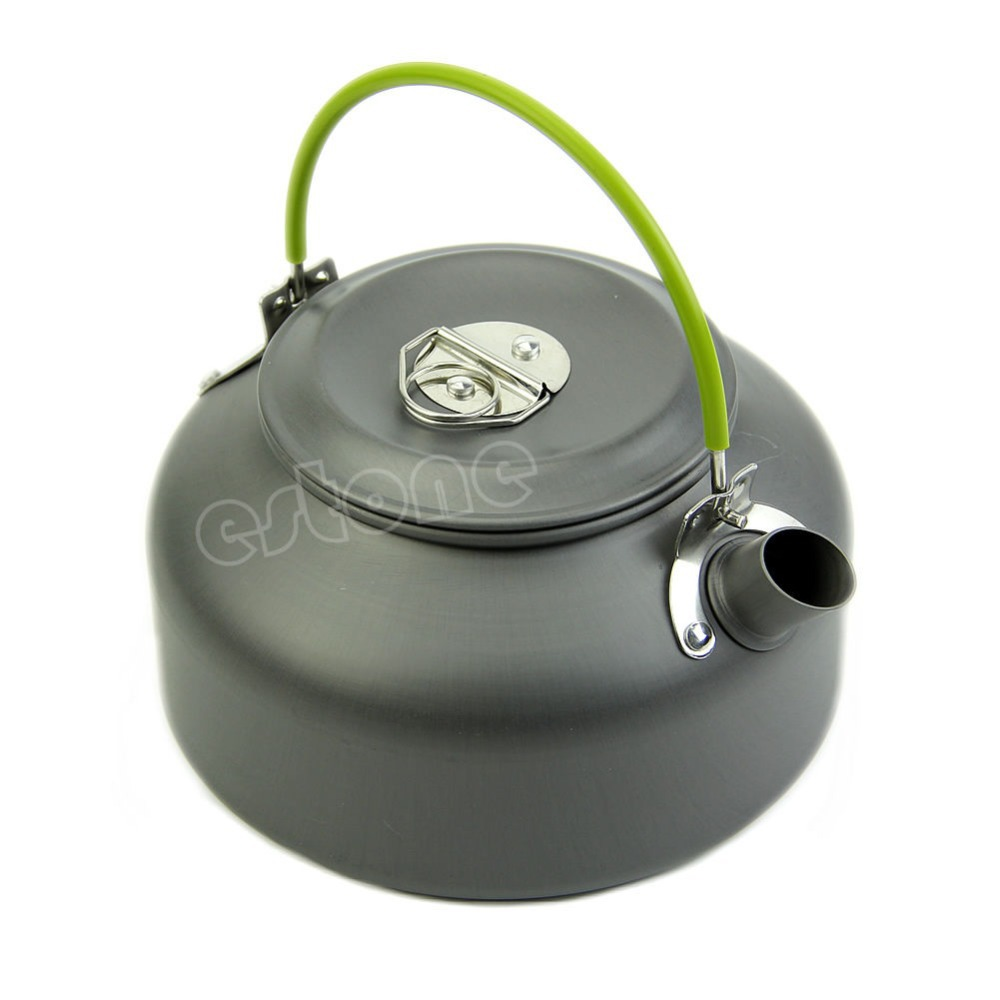 0.8L Ultra-light Camping Survival Water Kettle Teapot Pot Aluminum With Mesh Bag +Free shipping-151(China (Mainland))