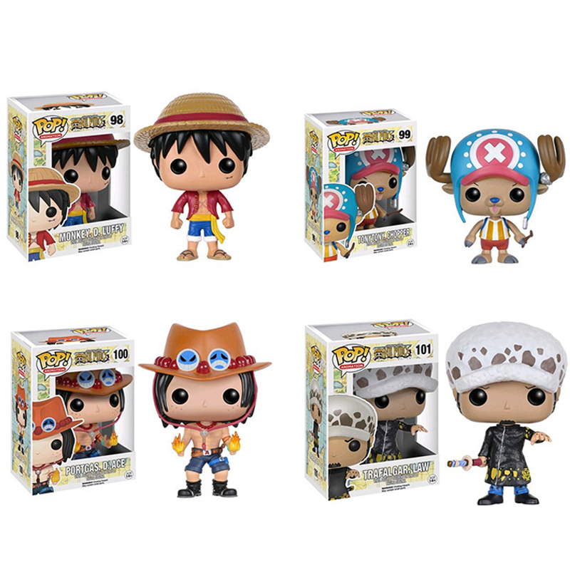Funko Pop One Piece Figure Luffy Chopper Ace Action & Toy Figures Collection Toy WJ559(China (Mainland))