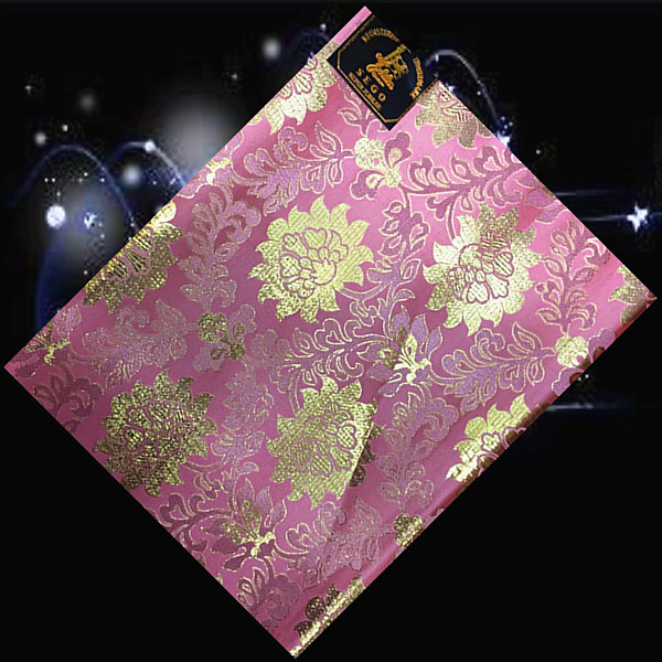 (SHT54-12 pink+gold),Nice colorful African sego head tie,wonderful embroidery sego gale,African sego headwear for ladies(China (Mainland))