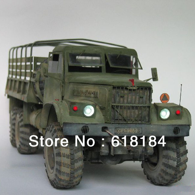Free shipment diy toys paper model car Russia KRAZ-255B-6X6, 1:25 scale simulation military truck model 3d puzzles for adults(China (Mainland))