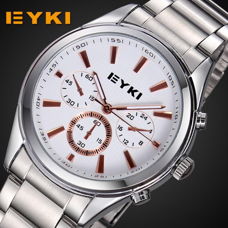 2014 new fashion quartz watch luxury brand EYKI Waterproof relogios masculinos femininos de marca famous couple lovers clock<br><br>Aliexpress