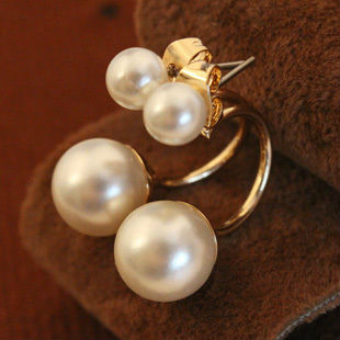 2016 Simulated pearl stud earrings women gift Charming gold plated earring girls fashion jewelry EE1178 - Big Girl Fashion Factory store