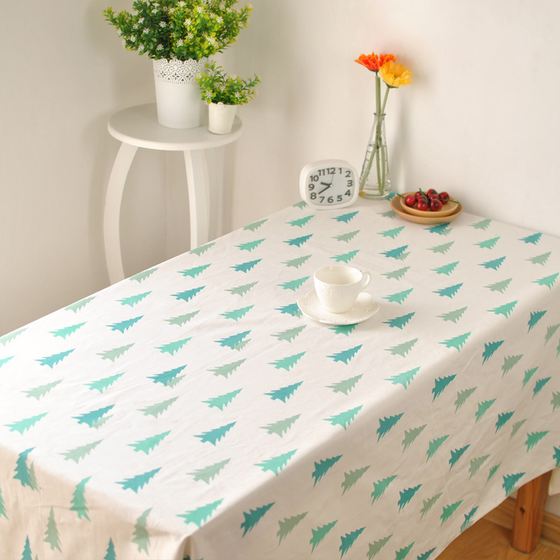 Korean literary fresh small pine table cloth cotton cloth cover coffee table cloth soft home factory outlets(China (Mainland))