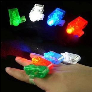 FBH141261 20pcs/lot glowing finger lamp LED creative funny toys finger laser lights flashlight at night free shipping(China (Mainland))