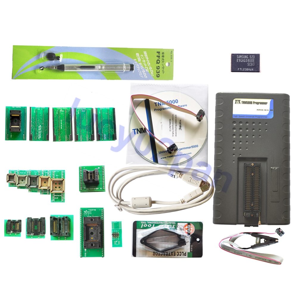 TNM5000 USB EPROM Programmer+12pcs adapters include TSOP48+TSOP56+test clip,Support /Microcontroller/ECU,Fast mode SPI support(China (Mainland))