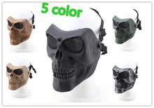 Buy CS outdoor V2 Half Face Skull Mask Metal Mesh Skull mask protection Paintball Airsoft Gun Masks Halloween horror masks for $19.79 in AliExpress store