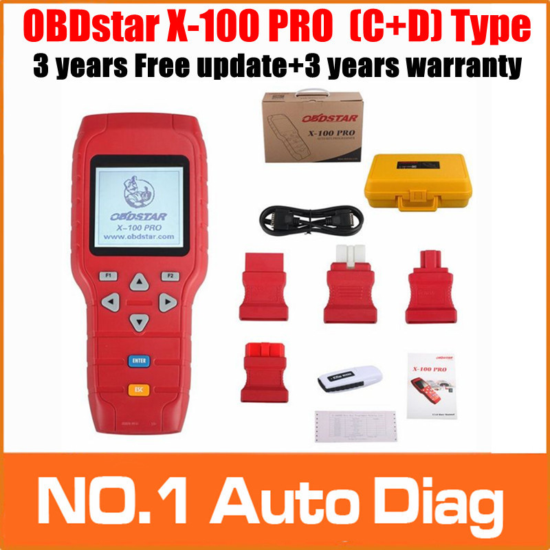 OBDstar X-100 PRO X100 Pro Auto Key Programmer (C+D) Type For IMMOBILISER+Odometer Adjustment +OBD software with EEPROM Function(China (Mainland))