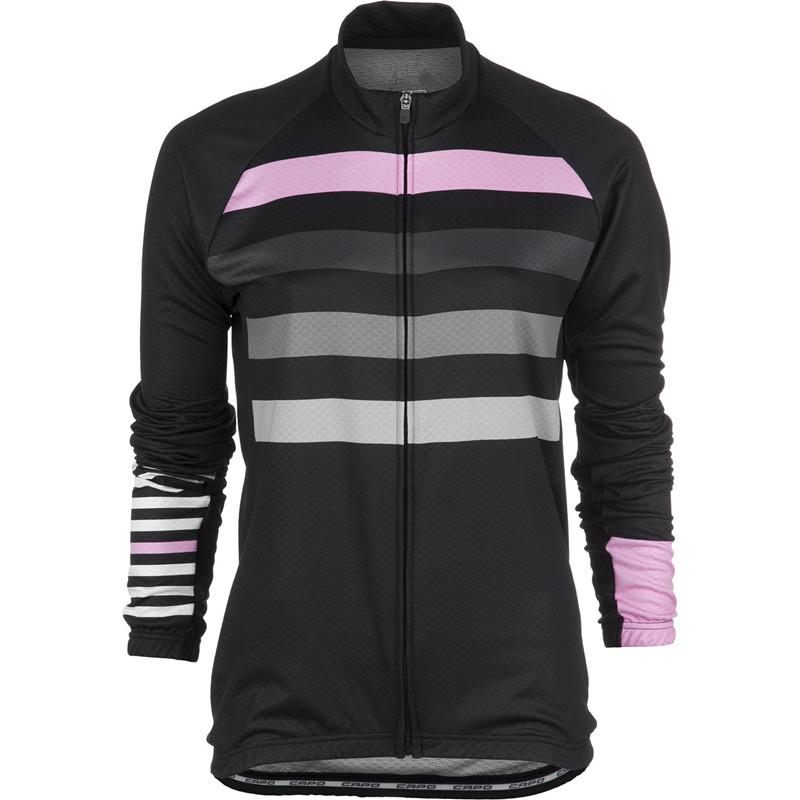 Free shipping Best quality women ployester tight summer bike long sleeve jersey lady's full zipper cycling jersey(China (Mainland))