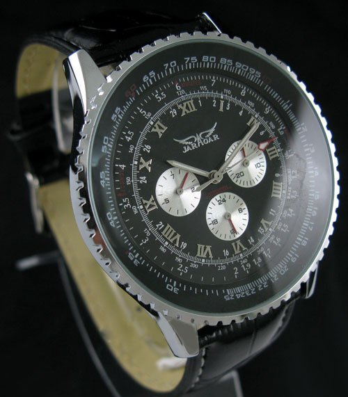 2015 NEW Deluxe SWISS AUTO 6 Hand Multi Function Mens Watch freeship