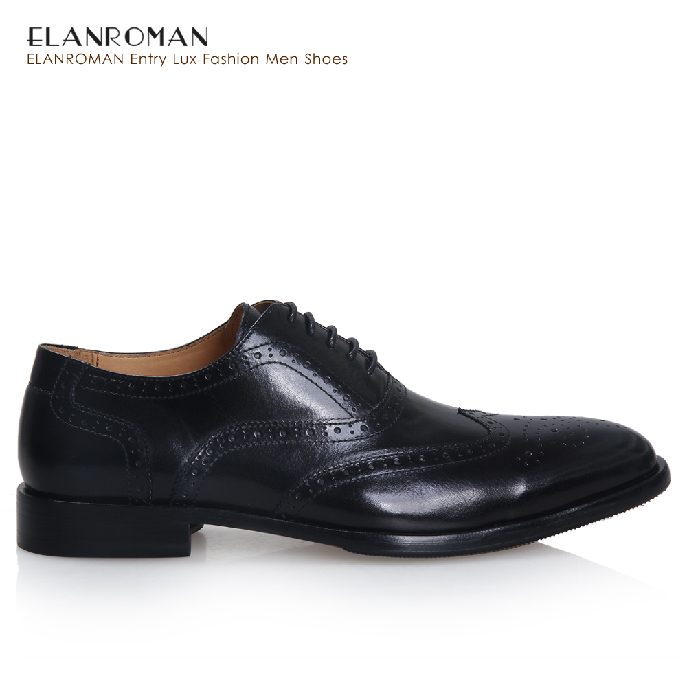 ELANROMAN 2016 New The Height Increasing Lastest Popular Business Style First Layer Calf Skin Tan Brogue Leather Men Dress Shoes(China (Mainland))