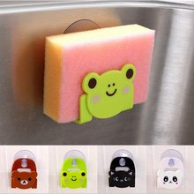 New Cartoon Funny Kitchen Cleaning Sponge Suction Wall Rack Holder Home Supplies(China (Mainland))