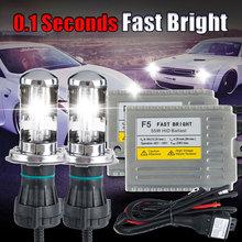 Buy bi xenon H4 0.1 second Fast bright F5 AC 12v 55w headlight lamp bi xenon hid kit H13 H4 9004 9007 Hi Lo xenon 6000k 5000k 4300k for $45.82 in AliExpress store